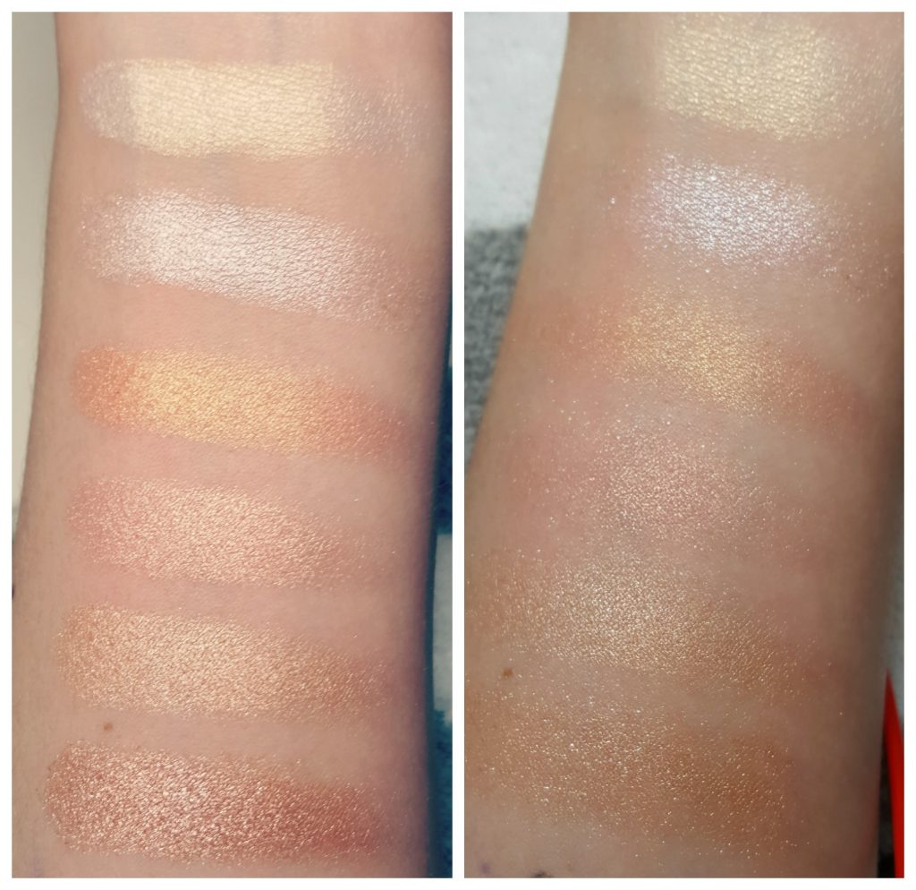 ColourPop Gimme More Highlight Palette Swatches